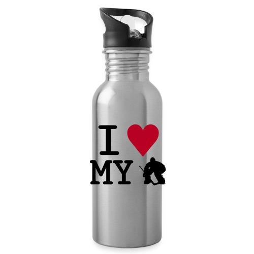 I Love My Goalie Water Bottle - Water Bottle