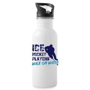 Ice Hockey Players Walk On Water Water Bottle - Water Bottle