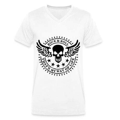 Super edles Herren T-Shirt (V-Ausschnitt) - Männer Bio-T-Shirt mit V-Ausschnitt von Stanley & Stella