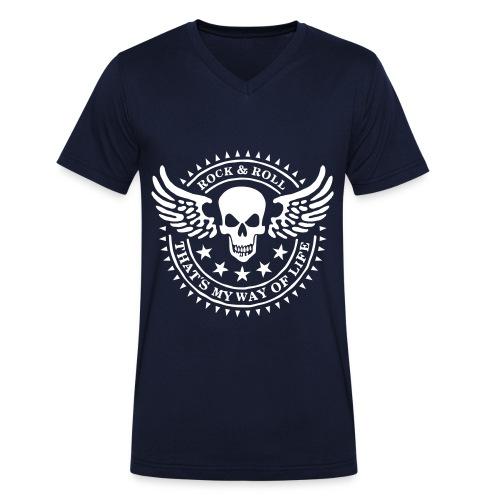 Super Herren T-Shirt (V-Ausschnitt) - Männer Bio-T-Shirt mit V-Ausschnitt von Stanley & Stella