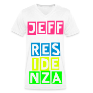 T-shirts ~ Mannen T-shirt met V-hals ~ Men V-hals: Jeff Residenza - Colorblocking