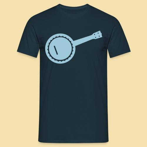 Menshirt: Banjolele (Motiv: blau) - Männer T-Shirt