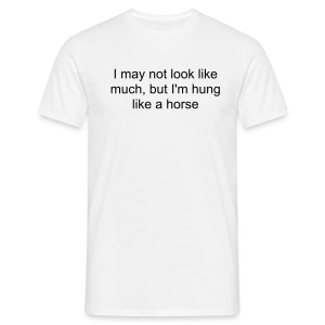 [GUYS] HUNG LIKE A HORSE (BLACK) - Men's T-Shirt