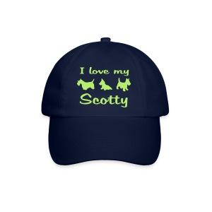 I Love my Scotch Terrier - Baseballkappe