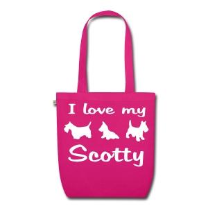 I Love my Scotch Terrier - Bio-Stoffbeutel