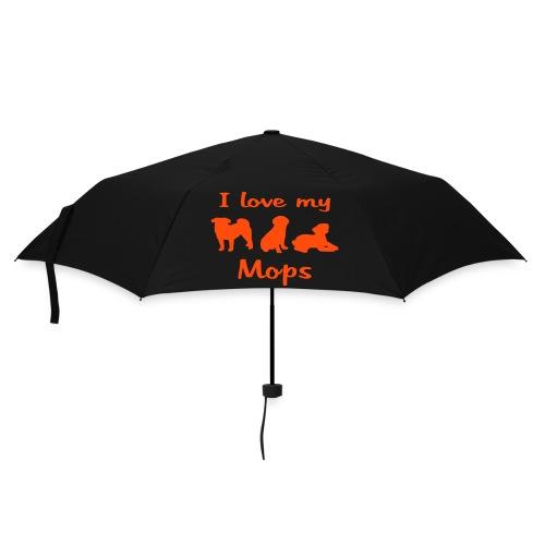 I Love my Mops - Regenschirm (klein)