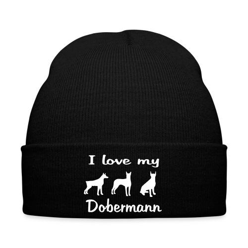 I Love my Dobermann - Wintermütze