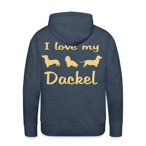 I Love my Dackel - Männer Premium Hoodie