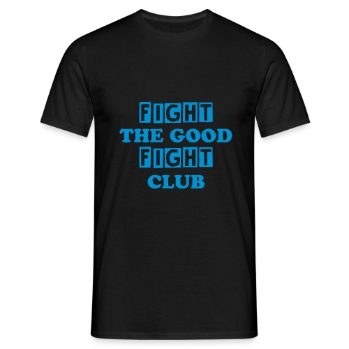 FIGHT T-SHIRT BLUE PRINT - Men's T-Shirt
