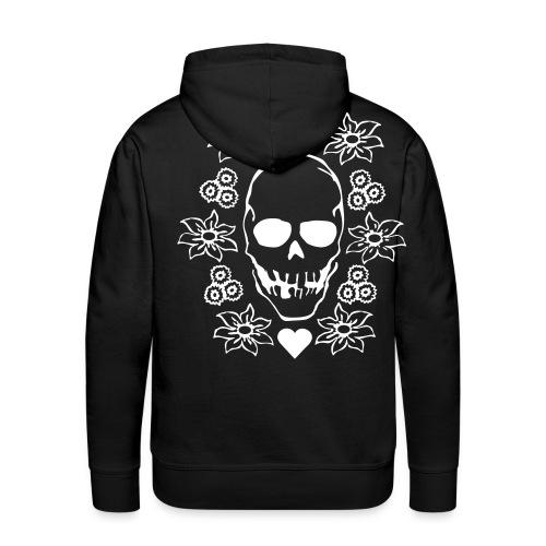 A Black DeepENDS Skull Hoody - Men's Premium Hoodie