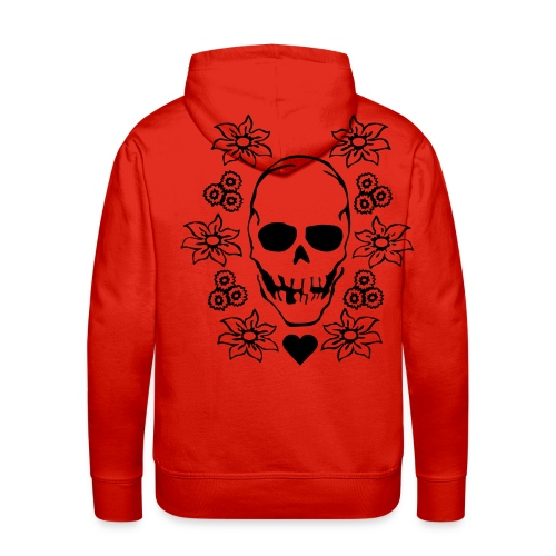 A Red DeepENDS Skull Hoody - Men's Premium Hoodie