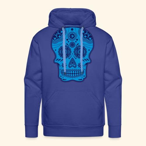 Sugar skull Blue - Sweat-shirt à capuche Premium pour hommes