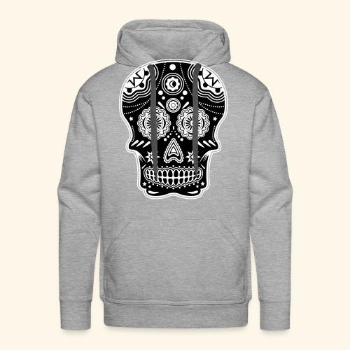 Sugar skull Negative - Sweat-shirt à capuche Premium pour hommes