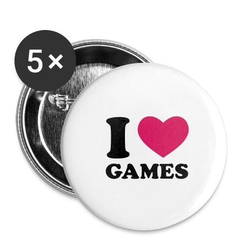 Pin's I Love Game - Badge petit 25 mm