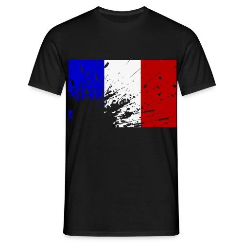 Men's T-Shirt - T-Shirt with Splatter Effect french Flag