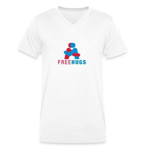 free hugs man - Mannen bio T-shirt met V-hals van Stanley & Stella