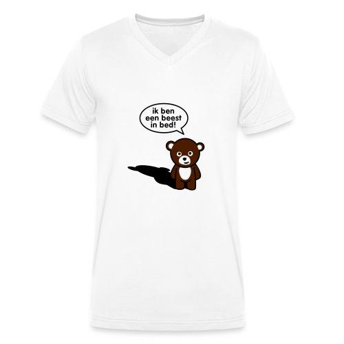beest in bed man - Mannen bio T-shirt met V-hals van Stanley & Stella