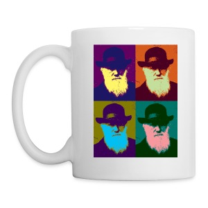 YellowIbis.com 'Evolution' Mug: Warhol Darwin (White) - Mug