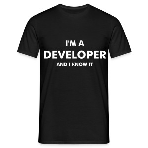 I'm a developer and I know it - chico manga corta - Camiseta hombre