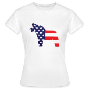 Swedish Amerikansk Dalahäst - Women's T-Shirt