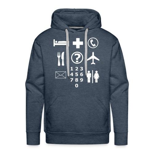 Vakantietrui met handige pictogrammen - Mannen Premium hoodie