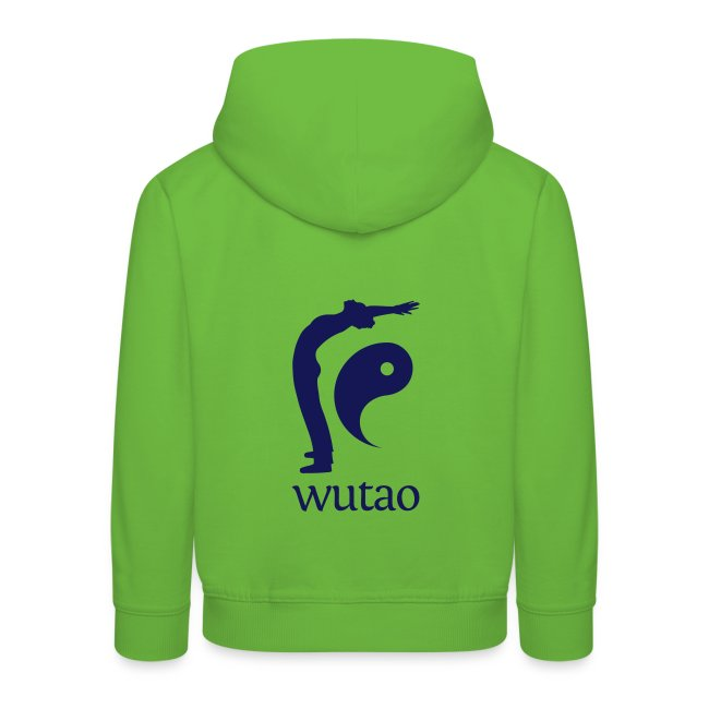 Pull à capuche enfant vert Wutao