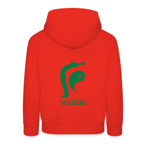 Pull à capuche enfant rouge Wutao - Pull à capuche Premium Enfant