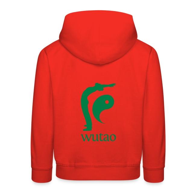 Pull à capuche enfant rouge Wutao