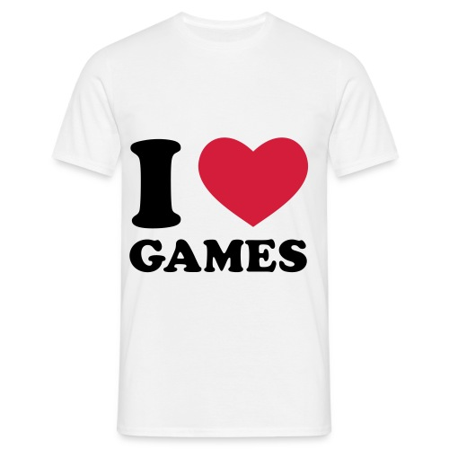 Men's I Love Games T-Shirt - Men's T-Shirt