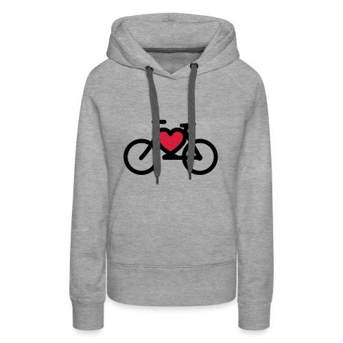 I love my bike - Frauen Premium Hoodie