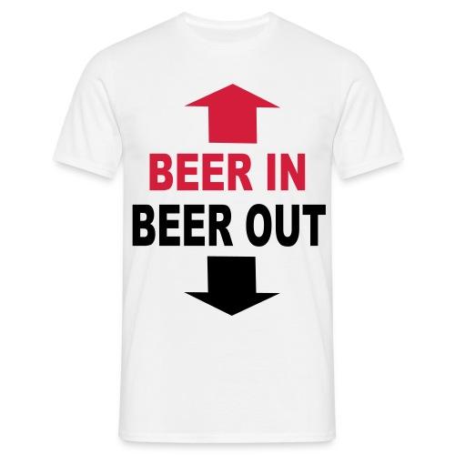 Mannen T-shirt - Beer In, Beer Out - Mannen T-shirt