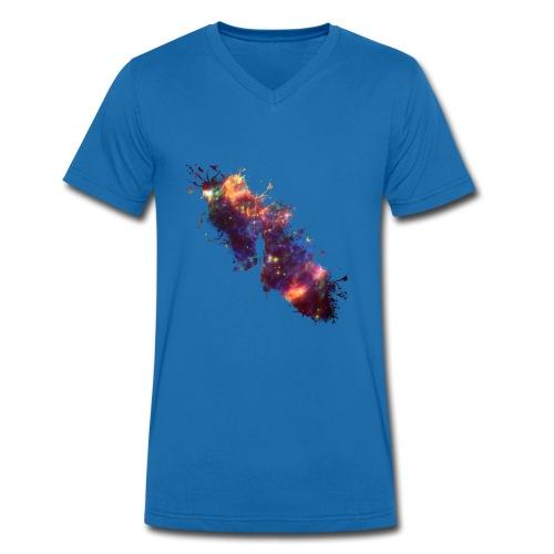 High in the sky galaxy tee - Mannen bio T-shirt met V-hals van Stanley & Stella
