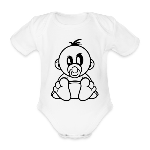 Body orgánico de maga corta para bebé