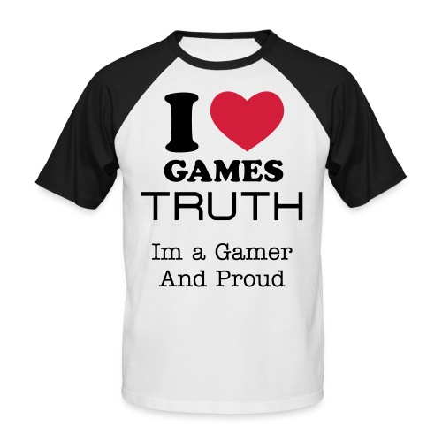 I Love Games - Men's Baseball T-Shirt