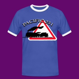 LOCOMOTIVE VAPEUR PACIFIC 231 DANGER - T-shirt contraste Homme