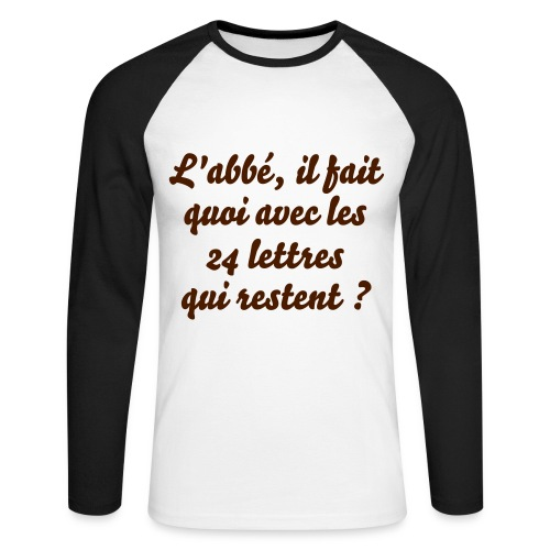 Pull humour - T-shirt baseball manches longues Homme
