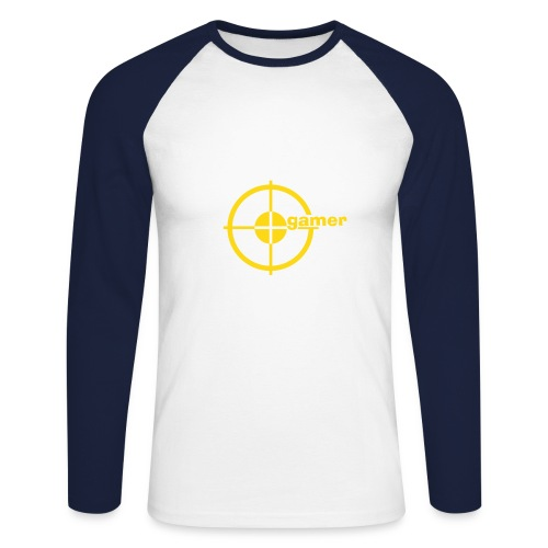 A long sleeved baseball shirt. - Men's Long Sleeve Baseball T-Shirt