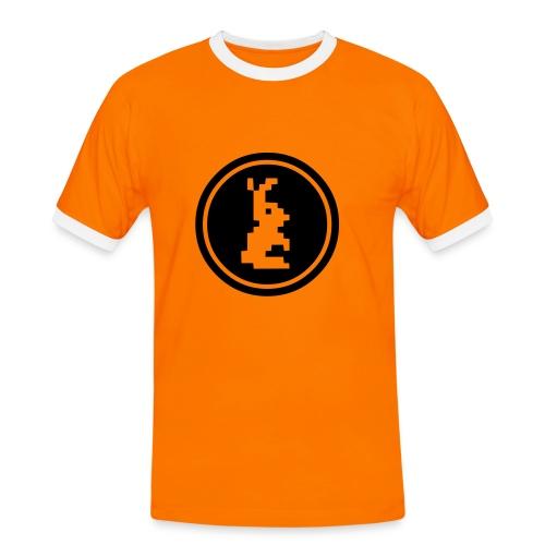 Vyriški marškinėliai su paveiksliuku priekyje. - Men's Ringer Shirt