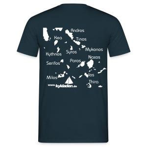 Kykladen Segeln Segelurlaub T Shirt bis xxxl - Männer T-Shirt