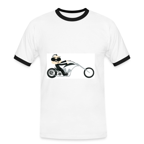 Motor Slim Contrast Tee - Mannen contrastshirt