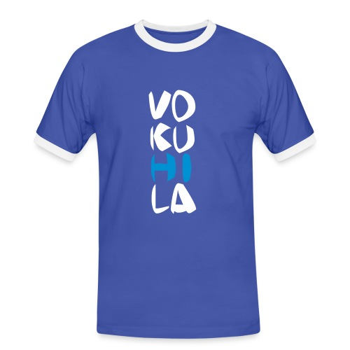 Vokuhila - Männer Kontrast-T-Shirt