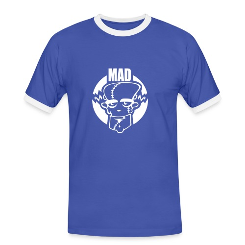 Men's Ringer Shirt - Our shirts and clothing are all made from quality brand name materials. Our designs are our own. Our prices are low, low low.  Hundreds of designs to choose  from. Or choose your own.