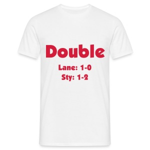 Double - Red Text - Men's T-Shirt