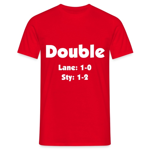 Double -  White Text - Men's T-Shirt