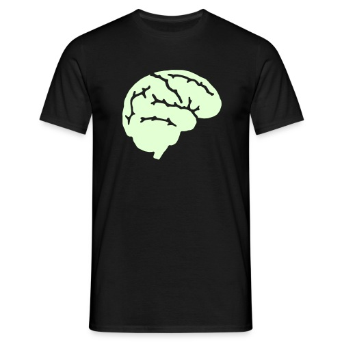 Glow in the Dark Brain T-Shirt! - Men's T-Shirt