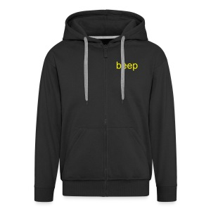 'beep' Zip Up Hooded Top ;) - Men's Premium Hooded Jacket