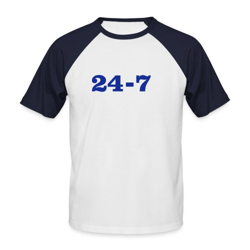 Promodoro Raglan manga corta 24-7 - Camiseta béisbol manga corta hombre