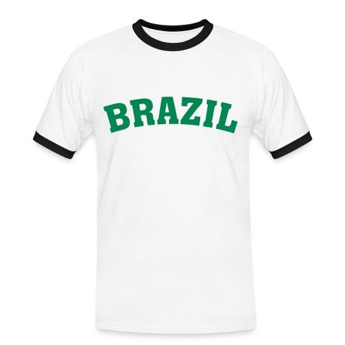 Mens Slim Contrast Tee Brazil - Camiseta contraste hombre