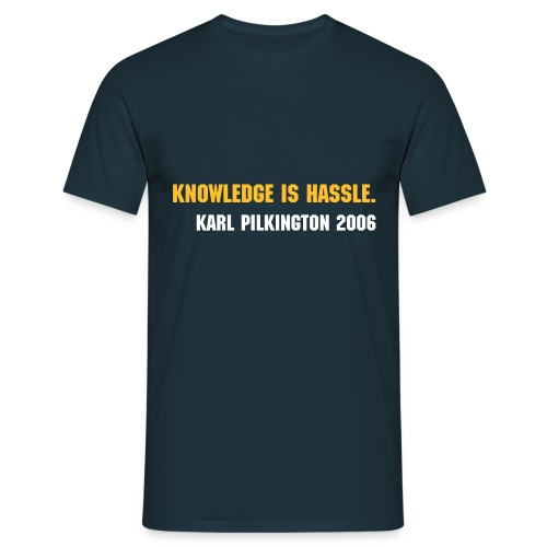 Knowledge is Hassle - Men's T-Shirt