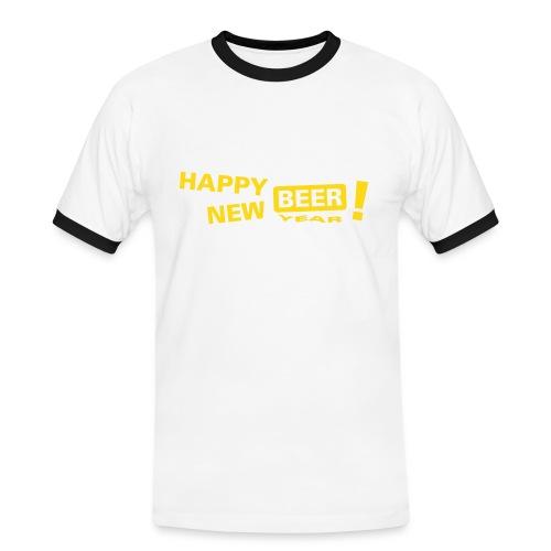 Happy New Beer - Mannen contrastshirt